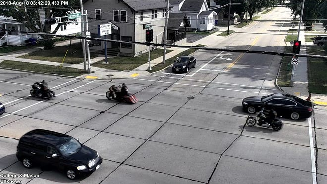 Appleton police asked for the public's help to identify a suspect and possible victim of an Aug. 18 shooting stemming from a conflict between rival motorcycle clubs. The scene was caught on traffic cameras.