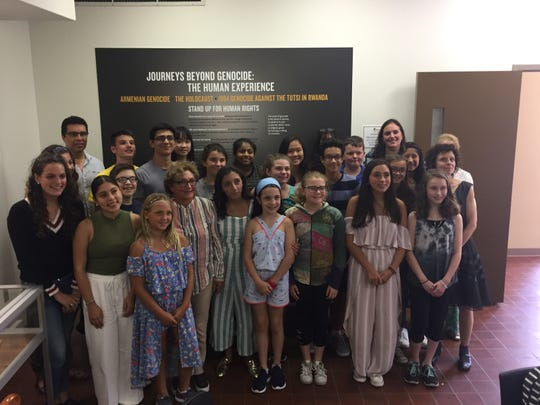 Participants visited the Center for Holocaust, Human Rights & Genocide Education at Brookdale Community College in Lincroft.