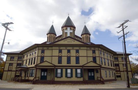 The exterior of the Great Auditorium in Ocean Grove.