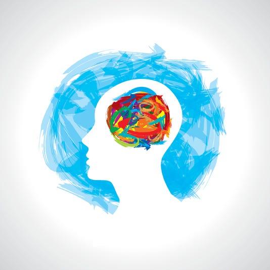 Human Head Thinking Making From Brush Stocks