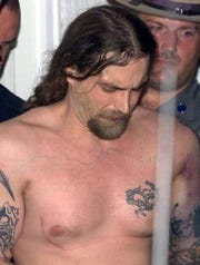 Convicted Binghamton murderer Timothy Vail, following his capture in a July 2003 escape from the Elmira Correctional Facility.