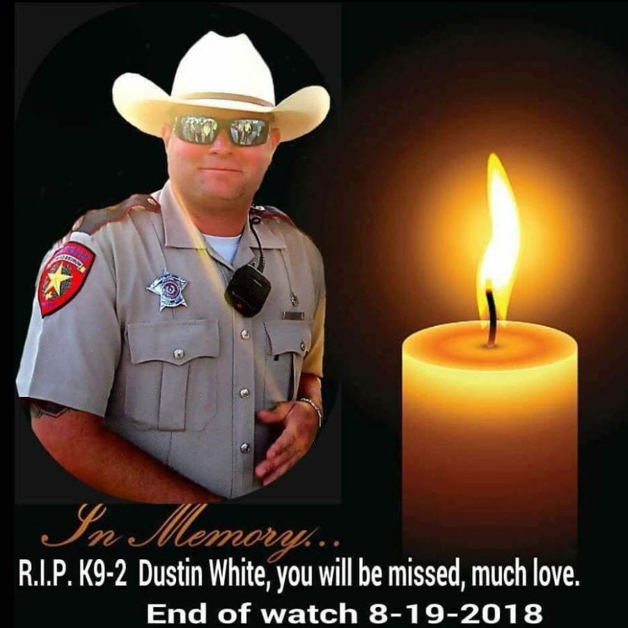 Nueces County deputy Dustin White remembered by Sheriff Kaelin as dedicated, dependable