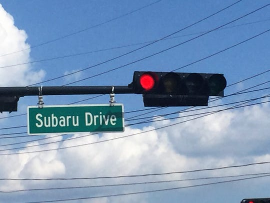 Subaru Drive, formerly part of Mount Ephraim Avenue, runs past the new Subaru of America headquarters in Camden.