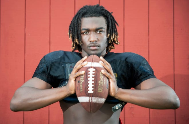 Burlington Township High School senior Omar Rogers is expected to help lead a talented and hungry Falcons' football team in 2018.