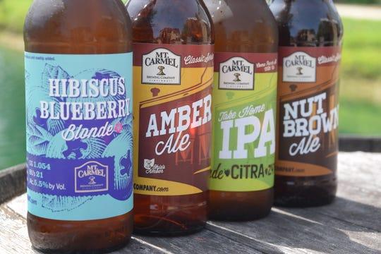 Mt. Carmel Brewing's bottled beer.
