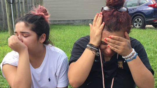 Victoria Torres and Sydney Allen mourn the shooting death of their 17-year-old friend.