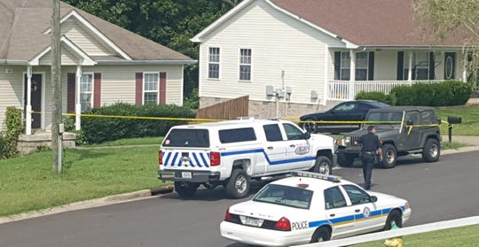 Clarksville Police investigate a fatal shooting on Granny White Road on Sunday.
