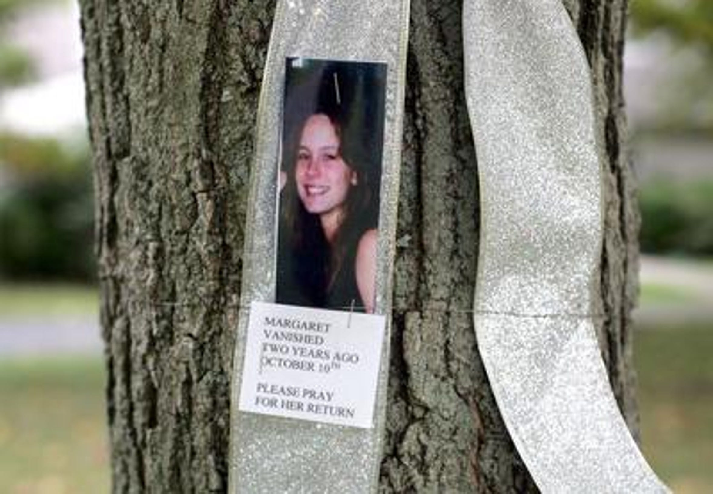 Every year silver ribbons with the picture of Margaret Haddican-McEnroe, who disappeared from her Warren Township home October 10, 2006, have been posted around her hometown of Warren to mark the anniversary of her disappearance.