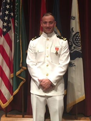 Lt. j.g. James Sireci of Hillsborough received his wings as a Navy helicopter pilot last month.