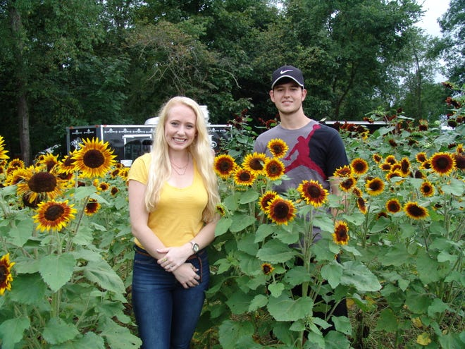 Seth Jackson and Jocelyn Green of Coshocton attended the Sunflower Festival on Friday evening. It was a good way to start off her 22nd birthday weekend, Jocelyn said.