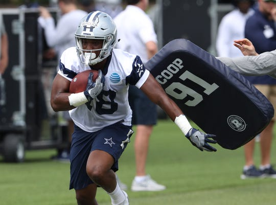 Dallas Cowboys receiver Marchie Murdock (18) during organized team activities at Dallas Cowboys headquarters at The Star.