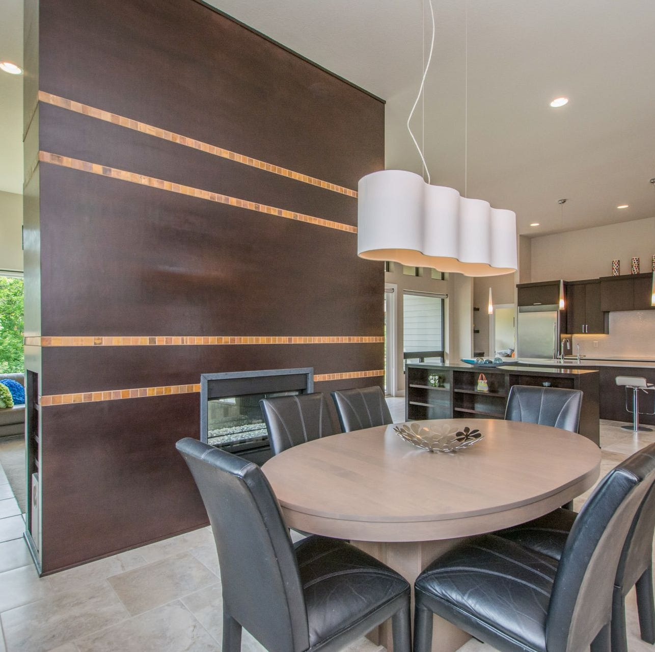 Custom home in Clive has modern touches on quiet cul de sac