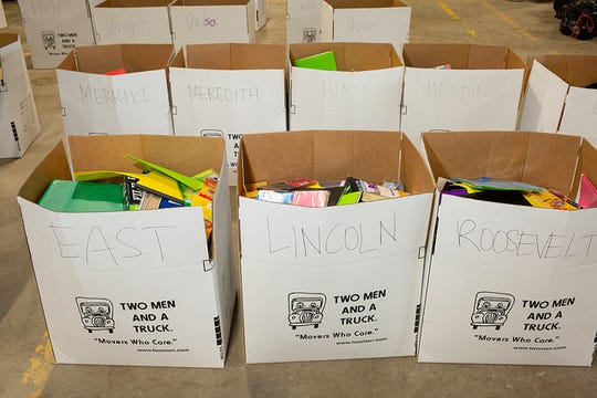 Thanks to local partnerships and personal donations, more than 22,000 school items were donated to Des Moines Public Schools.