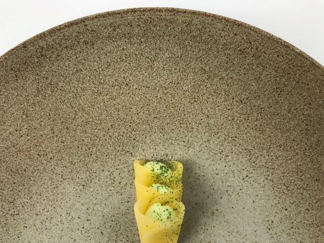 A dish from Albena, chef Garrett Lipar's eight-seat tasting counter debuting in the Siren Hotel in Detroit August 24.