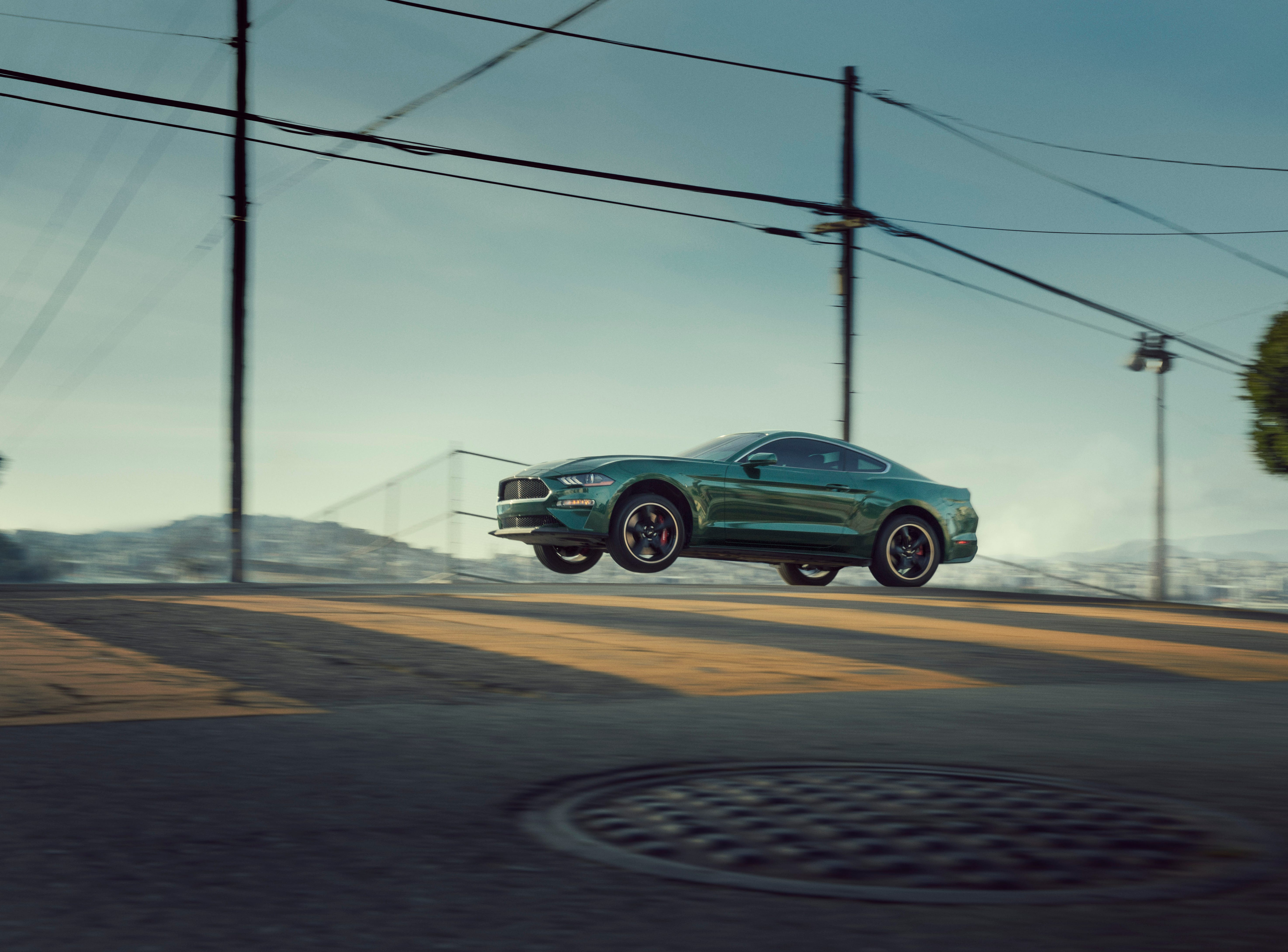 The 2019 Ford Mustang Bullitt can get airborne just like the '68 original.