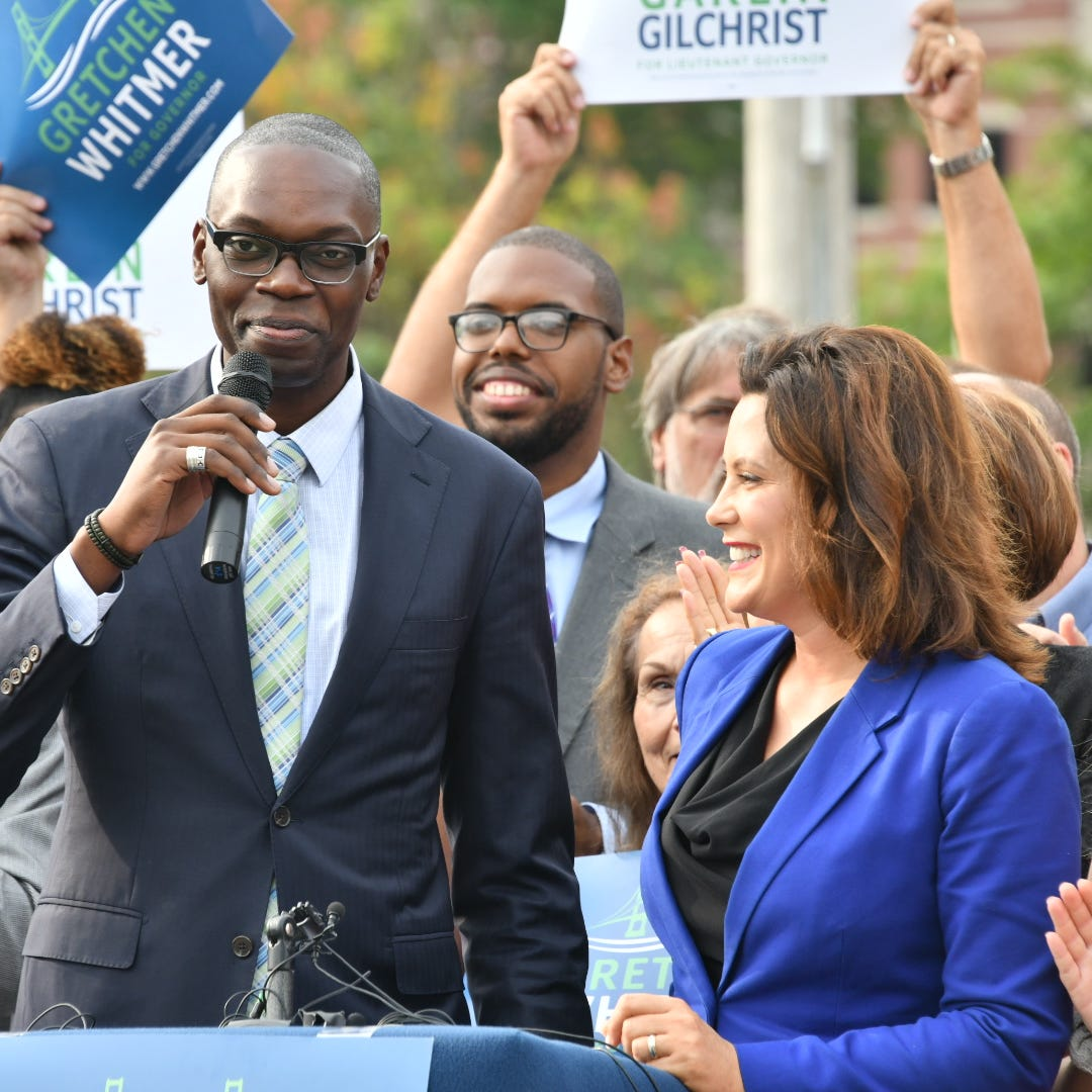 Whitmer taps Garlin Gilchrist II as running mate