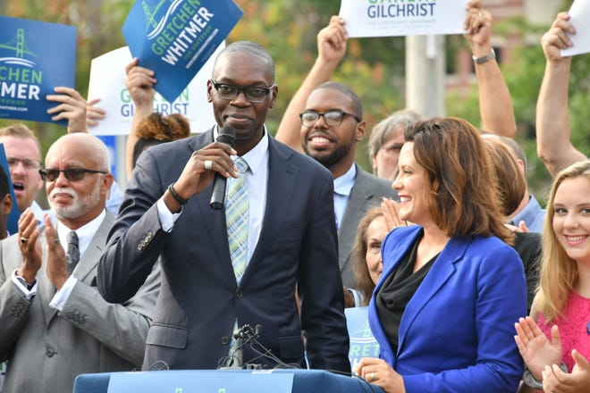Michigan gubernatorial hopeful Gretchen Whitmerhas named Garlin Gilchrist II of Detroit as her running mate and potential lieutenant governor.