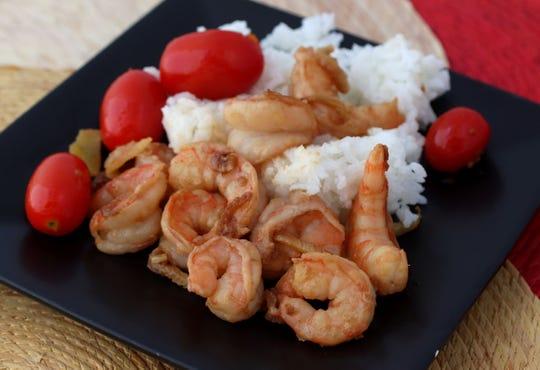 Fennel-lemon shrimp, on Wednesday, July 18, 2018. (Hillary Levin/St. Louis Post-Dispatch/TNS)