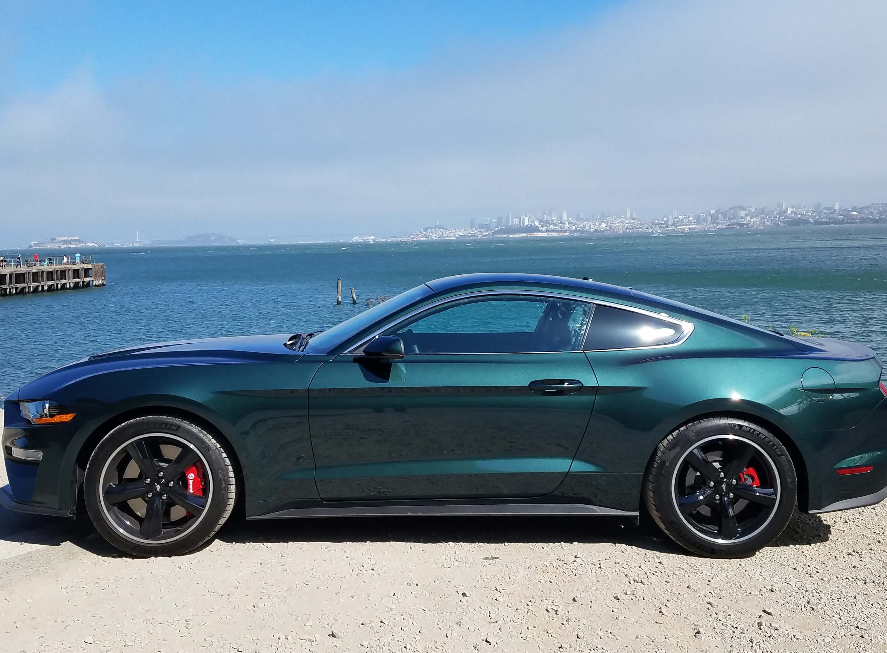 """The 2019 Ford Mustang Bullitt is a rear-wheel drive muscle car with 480 horsepower, a stiffened suspension and a coupe fastback made famous by the 1968 """"Bullitt"""" movie car."""