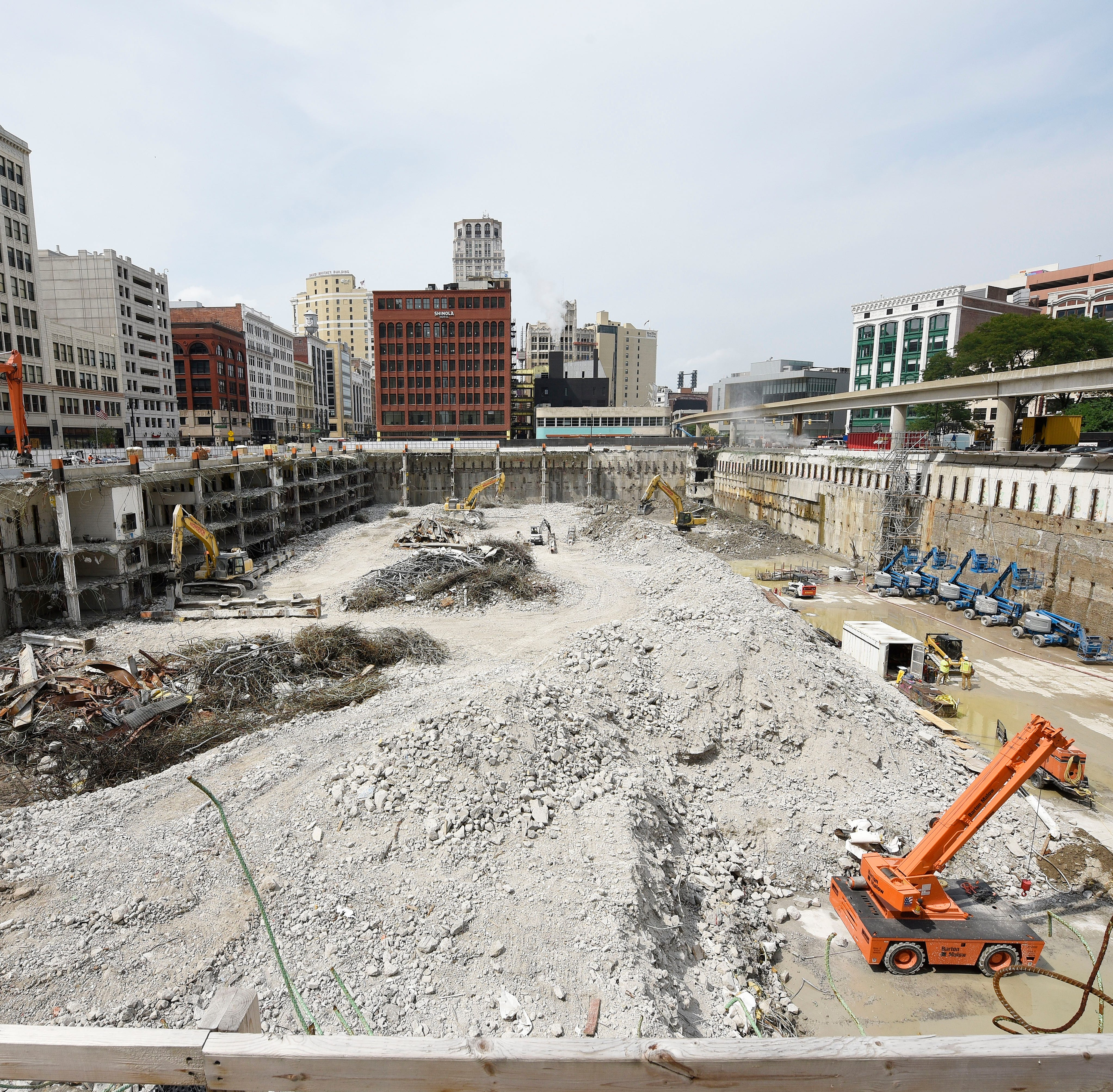 Former Detroit Hudson site demo on schedule