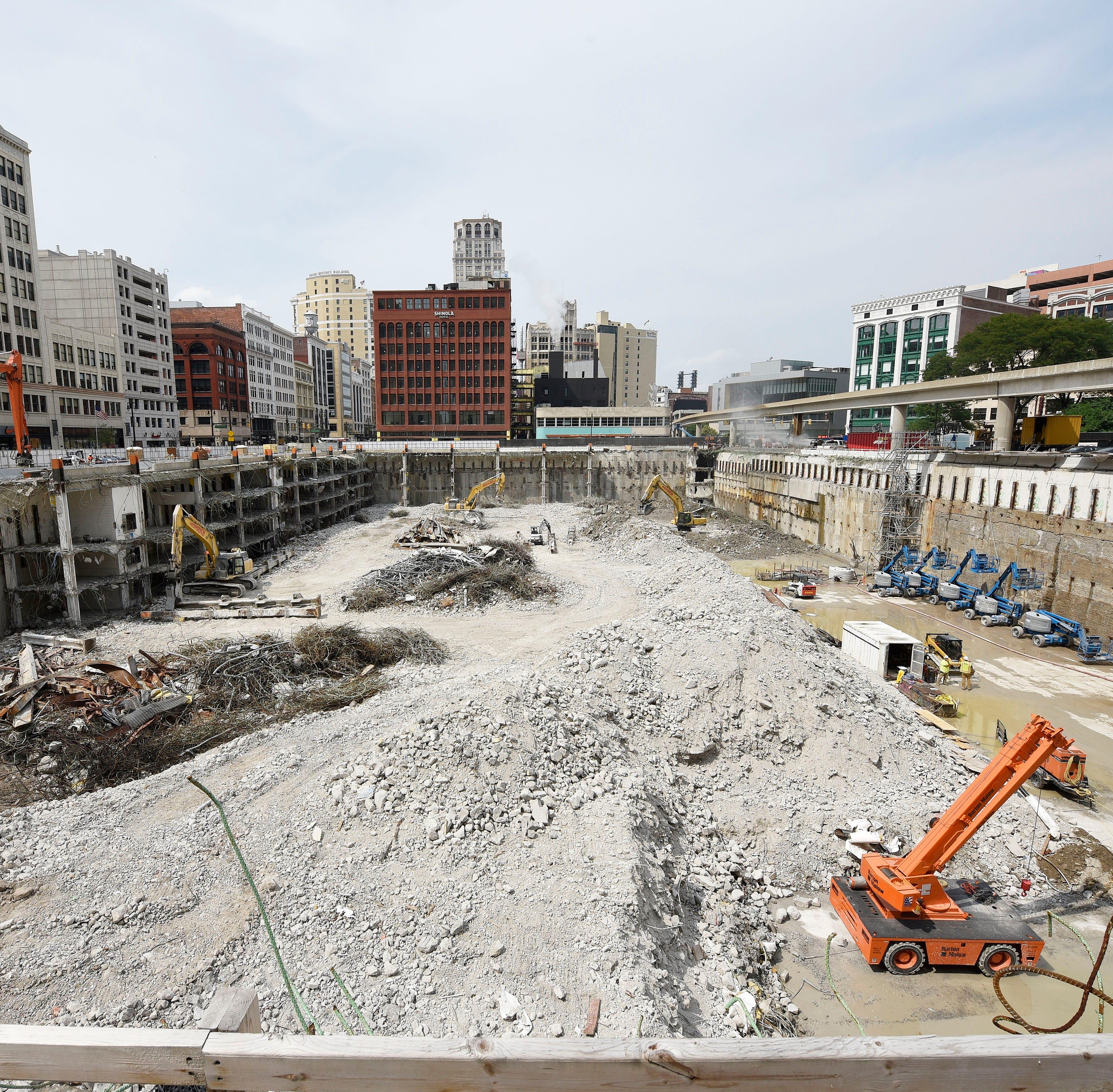 Former Detroit Hudson site demo on schedule
