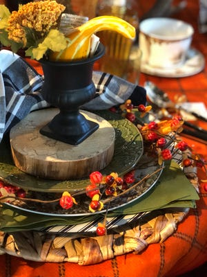 Don't confine yourself to a traditional tablecloth, Lu Ann advises. (Mary Carol Garrity)