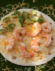 Shrimp and avocado quesadilla, on Wednesday, July 18, 2018. (Hillary Levin/St. Louis Post-Dispatch/TNS)