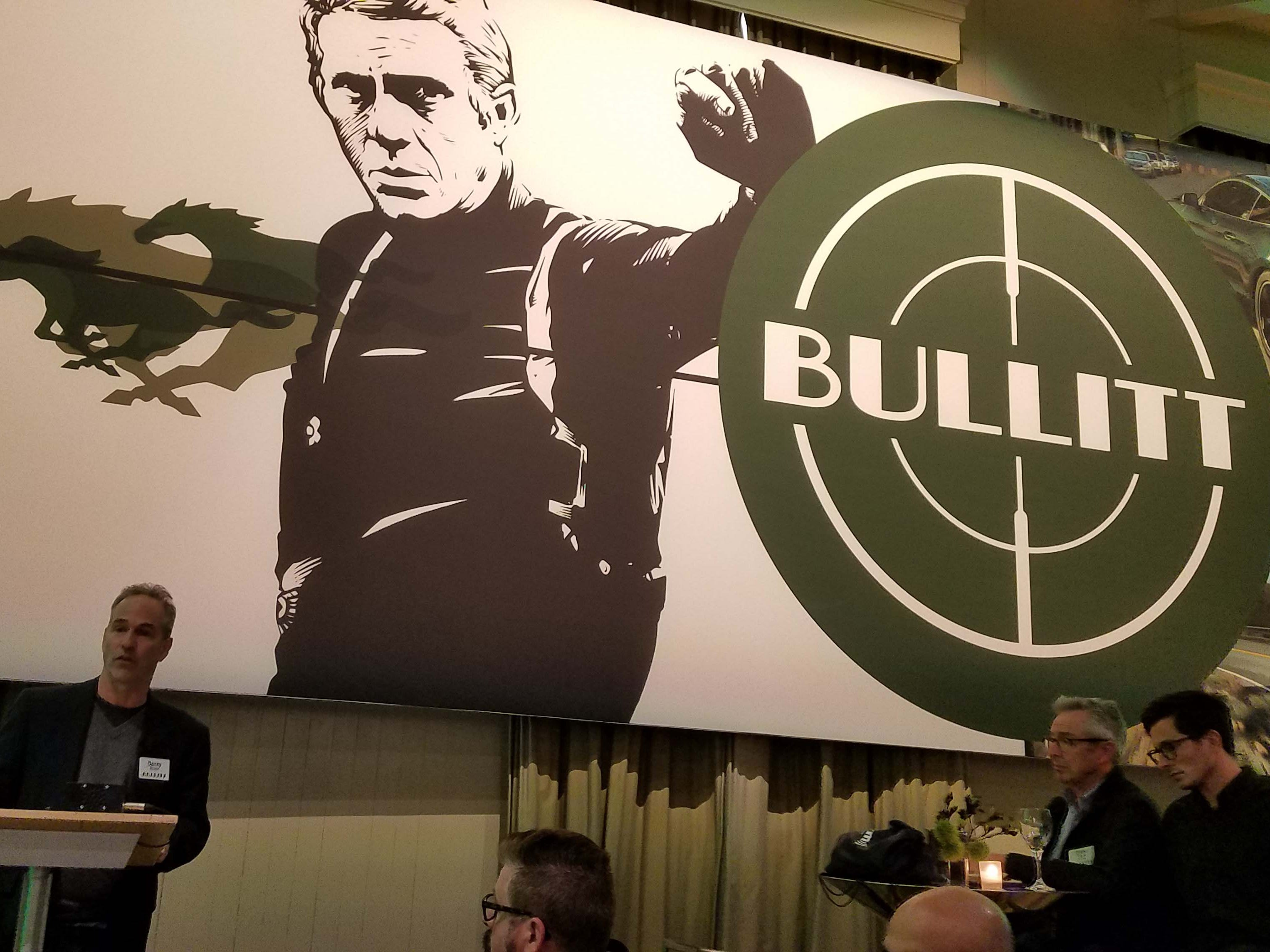 """USC professor of Cinematic Arts Danny Bilson is an expert on the """"Bullitt"""" movie. The 2019 Ford Mustang Bullitt uses graphics from the original movie poster."""