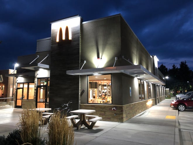 The new exterior look of McDonald's on West Elizabeth Street, Fort Collins.