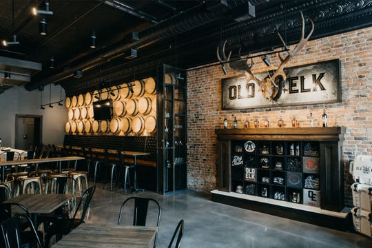 The interior of a new distillery tasting room called The Reserve in Fort Collins.
