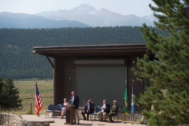 Estes Park Mayor Todd Jirsa welcomednew citizens into the community during a Naturalization Ceremony in Rocky Mountain National Park in 2018. Now he and Mayor Pro-tem Cody Walker are facing a potential recall effort launched by Estes Park Recall Group.