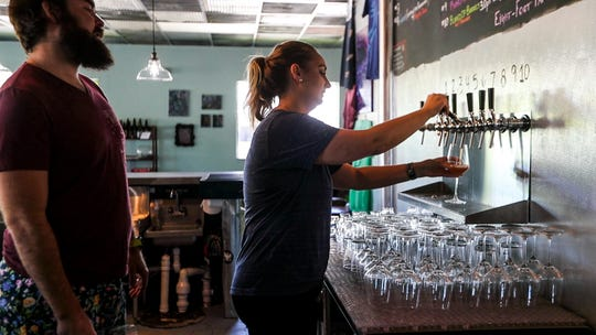 Eight-Foot Brewing, which opened July 28 in Cape Coral. The brewery specializes in small-batch beers and opened after three years of planning by husband and wife Roger and Alex Phelps.