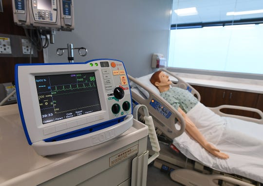 High-tech simulators such as this one will help nursing students learn high-risk skills before they put them into practice with patients.