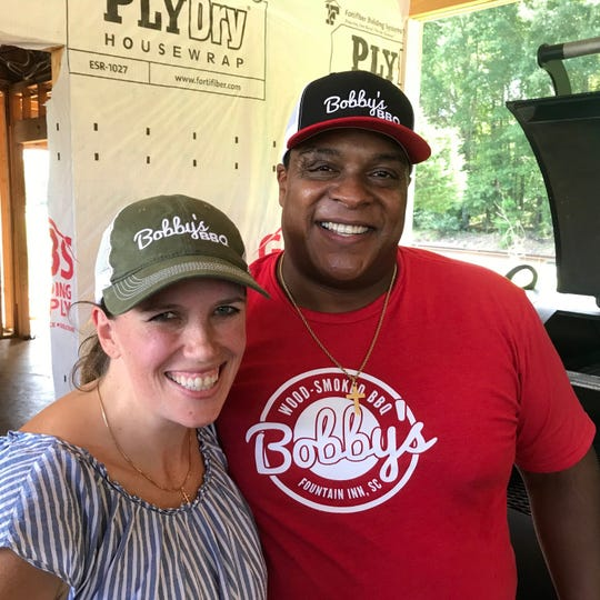 "Sarah and Octavius ""Tay"" Nelson, owners of Bobby's BBQ in Fountain Inn."