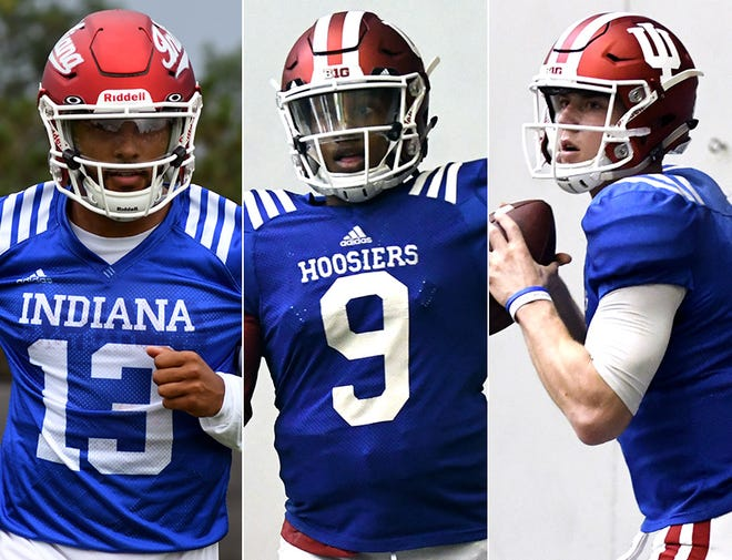 Who will start for IU? Will it be Brandon Dawkins (left), Michael Penix (center) or Peyton Ramsey (right)?