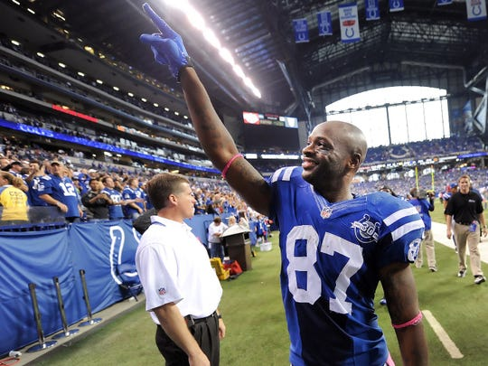 Reggie Wayne scored 82 touchdowns during his NFL career.