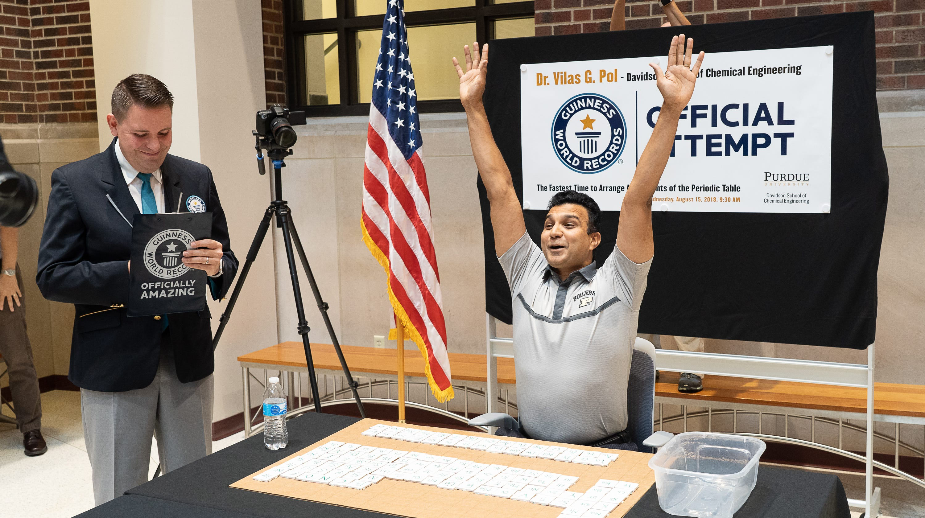 Purdue professor sets world record for fastest arrangement of the periodic table of elements