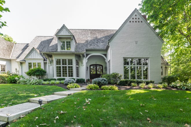 This English country-inspired, 7,000 square-foot house in Zionsville is currently listed for $1.39 million.