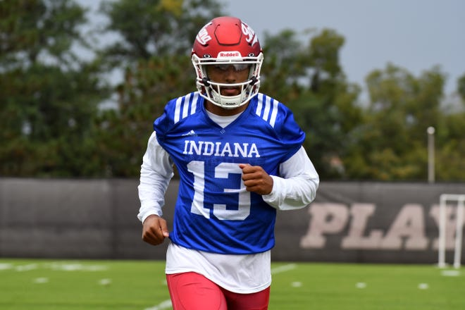 Grad transfer Brandon Dawkins is in the mix to start for IU at quarterback.