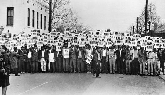 Ernest C. Withers's photo Sanitation Workers Assembling for a Solidarity March, Memphis, March 28, 1968, is part of an exhibit opening at the McClung Museum of Natural History and Culture.