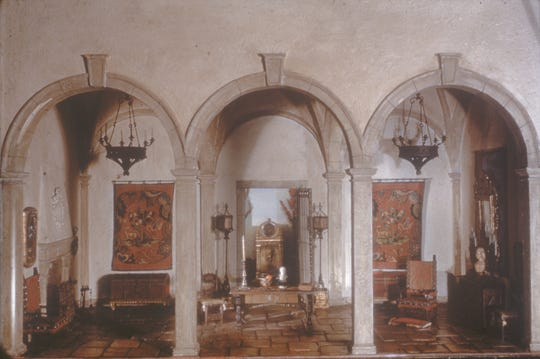 One of the Knoxville Museum of Art's nine miniature Thorne Rooms is a 17th-century Spanish foyer. It is one of the favorites remembered by Knoxville resident Sherri Lee, who funded the conservation/restoration and exhibit of the rooms.