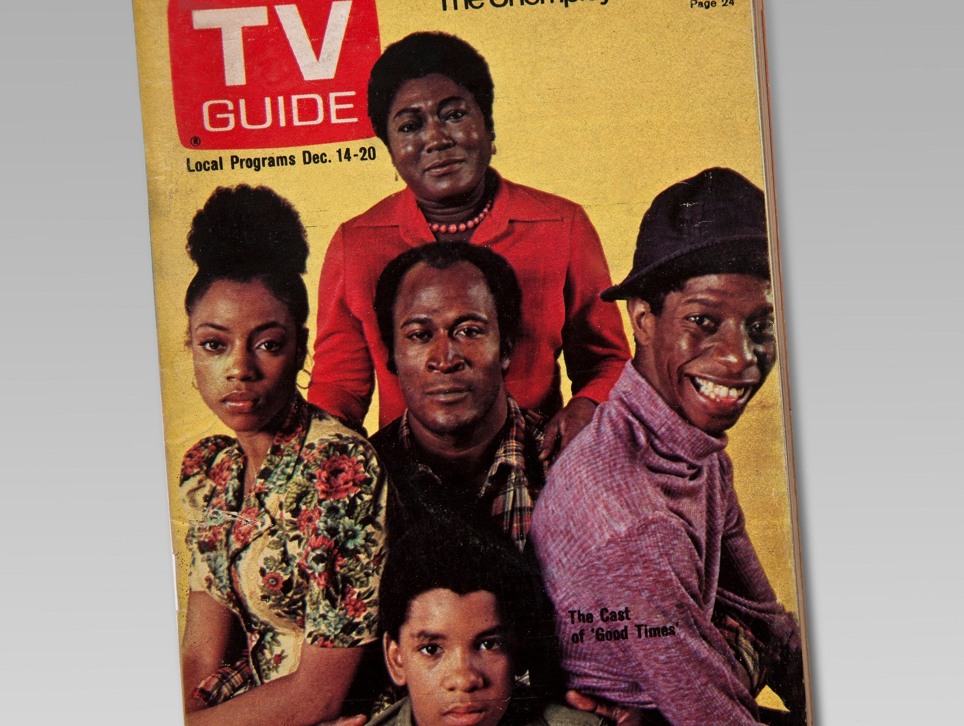 "This TV Guide  December 1974 cover showing the cast of the show ""Good Times"" is part of the touring exhibition ""For All the World to See: Visual Culture and the Struggle for Civil Rights"" opening at the McClung Museum of Natural History and Culture."