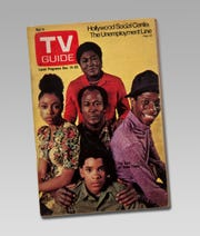 """This TV Guide December 1974 cover showing the cast of the show """"Good Times"""" is part of the touring exhibition """"For All the World to See: Visual Culture and the Struggle for Civil Rights"""" at the McClung Museum of Natural History and Culture."""