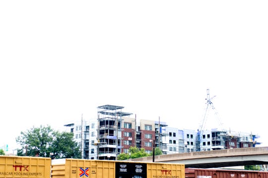 Regas Square condos begins to take shape in Old City in downtown Knoxville, Tennessee on Saturday, August 18, 2018.