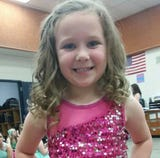 8-year-old Ava Easterday died Saturday evening after a motorcycle and the SUV she was riding in collided on Emory Road.