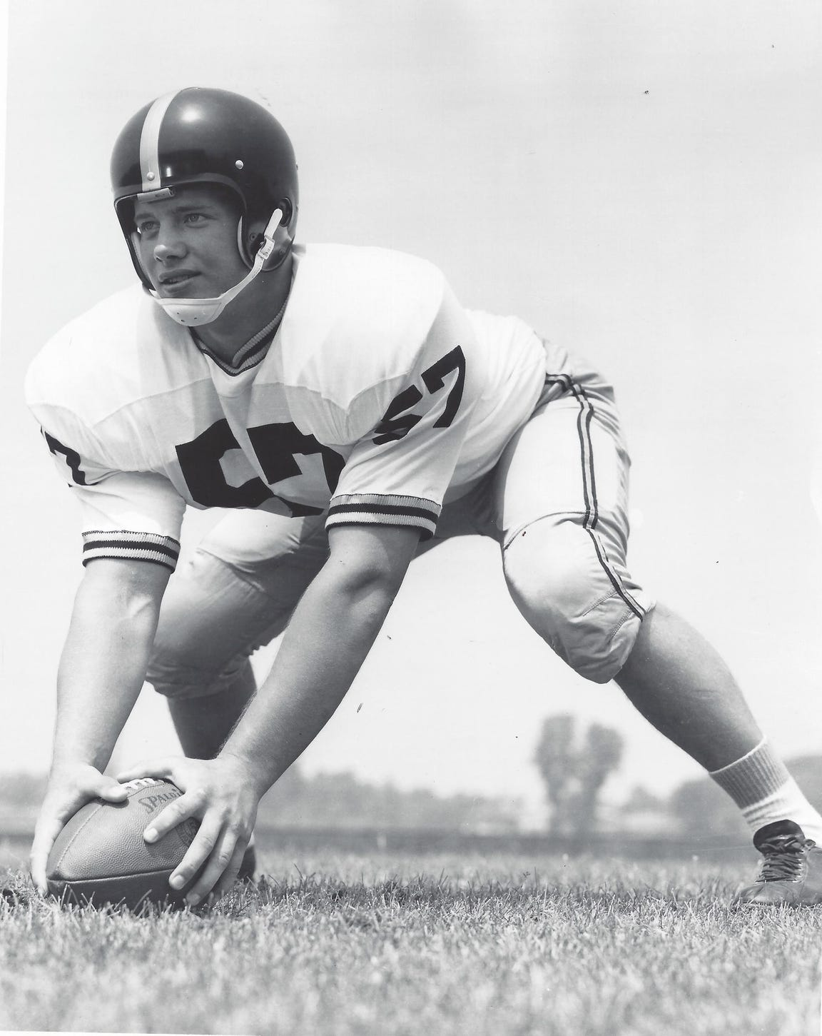 Ed Flanagan went on to become a four-time Pro Bowl center for the Detroit Lions after his career at Purdue.