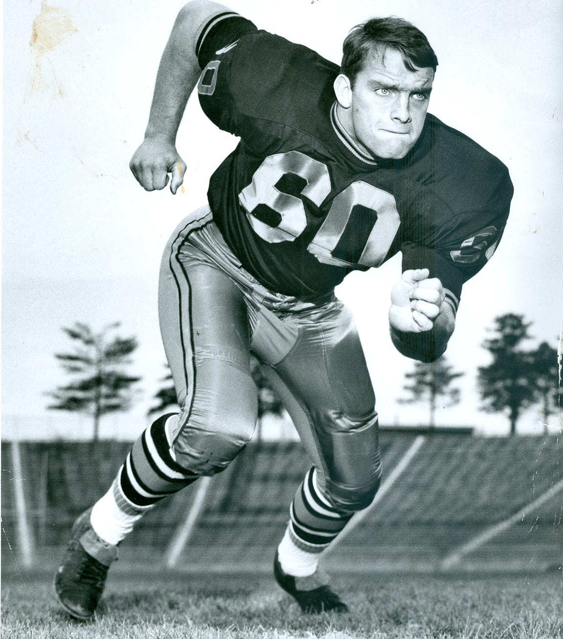 Chuck Kyle is one of only a handful of Purdue football players to earn first team All-Big Ten honors three times.