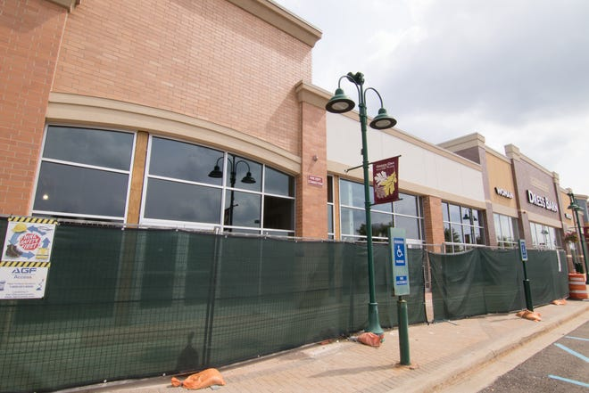 A Lumber Liquidators will occupy this location, shown Monday, Aug. 20, 2018, next to Dress Barn at the Green Oak Village Place mall.