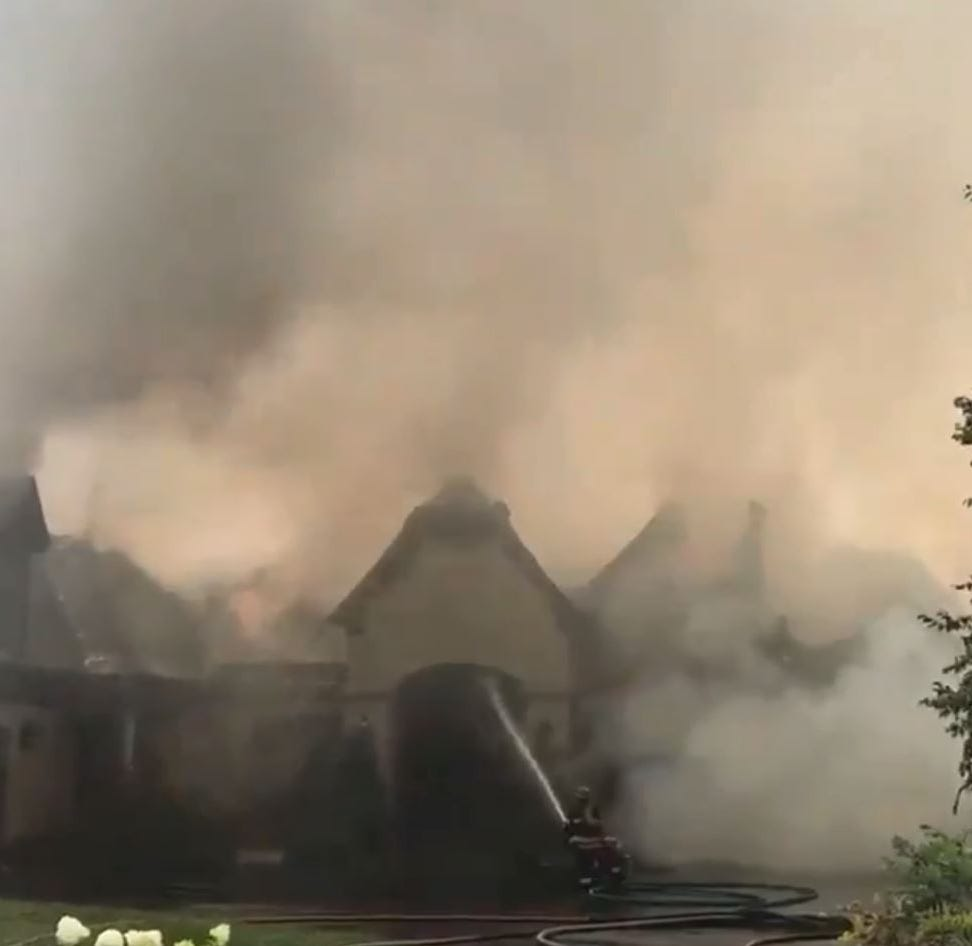 Crews work to put out massive fire at $3.5 million Prospect mansion