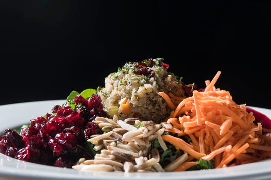 Powerhouse Salad prepared by Executive Chef Lucas Fleitz at Bluegrass Brewing Co. on 4th Street.